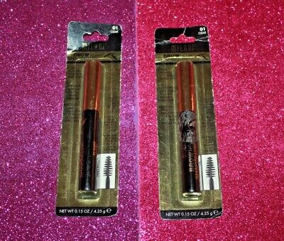 MILANI BROW SHAPING CLEAR GEL #01 CLEAR LOT OF 2 SEALED /BOXED (Brow Shaping Gel Clear)
