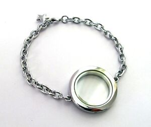 1pcs-plain-Round-diy-Floating-Charm-Locket-include-the-Bracelet-no-charms-B002