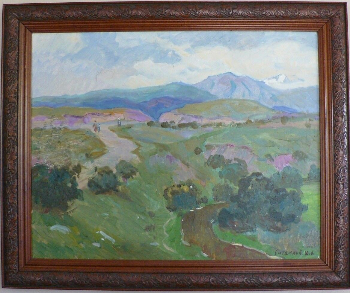 Fabulous Original Russian Oil Painting 1998 Impressionist Fine Condition 19 X 23 - $333.85