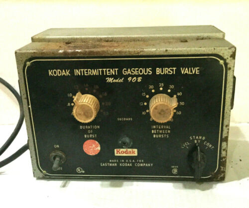 Kodak Intermittent Gaseous Burst Valve Model 90B Lektra Laboratories TM-12K VTG