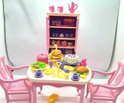 MATTEL Barbie doll SO MUCH TO DO DINING ROOM SET playset food nice