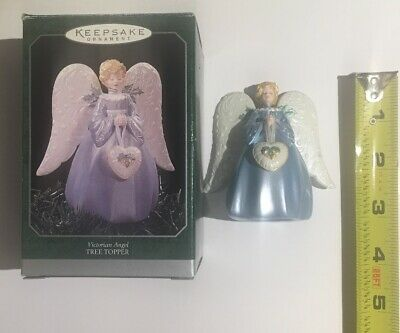 1999 Hallmark Victorian Angel Tree Topper Keepsake Ornament Christmas Angel