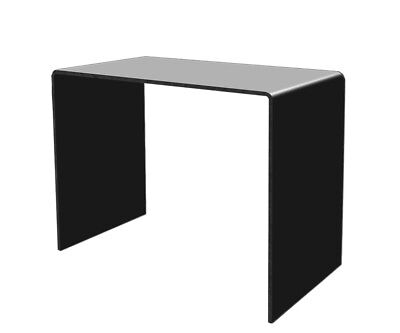 Display Stand Black 11 X 8 Counter Top Acrylic Riser Showcase Art Pieces