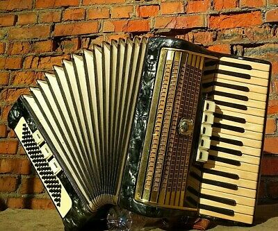 Vintage Retro German Musical Instrument Accordion Weltmeister, used for sale  Shipping to Canada