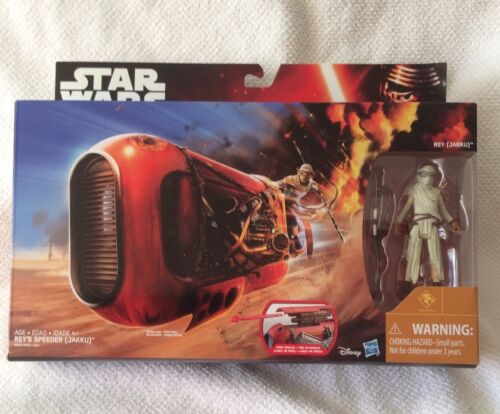 STAR WARS THE FORCE AWAKENS REY'S SPEEDER with REY  FIGURE N