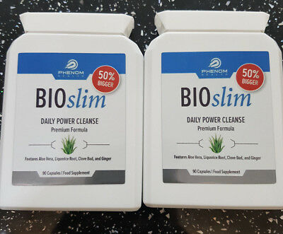 - BIOSLIM DAILY POWER CLEANSE X 2 of 90 capsules:-Body detoxing / BOXED & SEALED