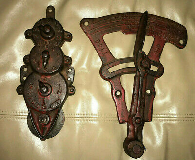 2 Old Farm Equipment Parts Seed Counter Crop Planter Drill Iron  Tool