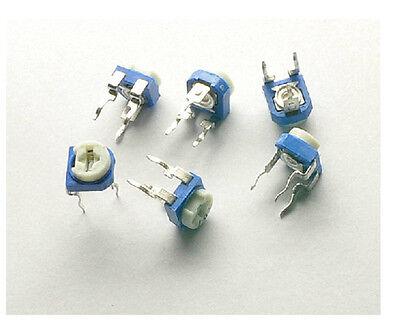 50pcs 100k 104 Blue White Resistance Adjustable Resistor
