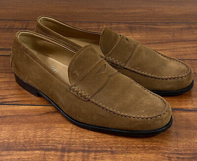 MENS TOD'S TODS ITALY Tan Light Brown Suede LOAFERS US SZ 11.5 TOD's Sz 10.5
