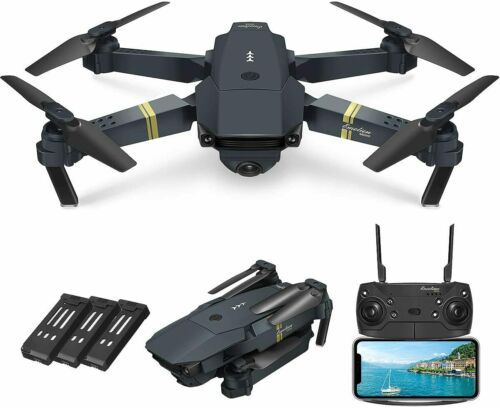 Drone X Pro WIFI FPV 1080P HD Camera 3 Batteries Foldable RC Quadcopter UK