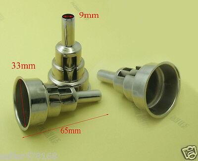 2pc Metallic Iron Round 33mm Tuyres To 65 X 9mm Nozzle For Handheld Hot Air Gun
