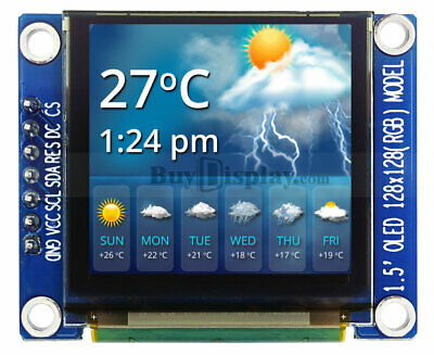 Full Color 1.5 Inch Arduinoraspberry Pi Oled Display Module 128x128 Wssd1351