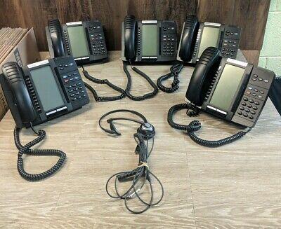 Lot Of 5 Mitel 5320e Ip Phone W Stand 1 Headset