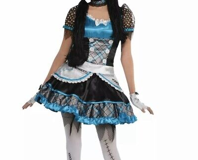 Zombie Teen Costume (Teen Girls Shattered Doll Halloween Costume Broken Bell Zombie Anna Fancy)