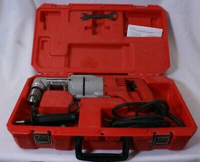 Milwaukee 1107-1 Heavy Duty Corded 12 Right Angle Drill Wcase