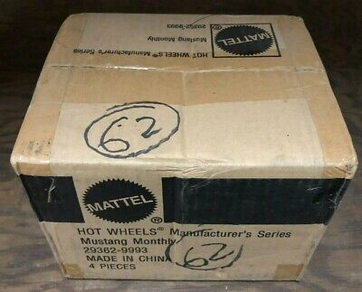 Factory Case Of 4 Sealed Hot Wheels Manufacturer's Series Mustang Monthly 29362
