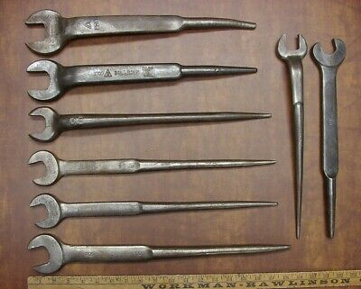 8 Vintage Spud Wrenchesprotoarmstrongbillings Williamsinstant Collection