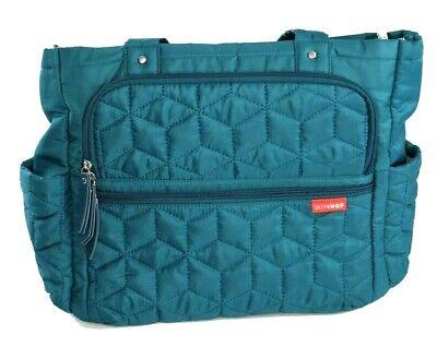 Skip Hop Diaper Bag Medium Size Blue Green