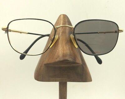 97c1555a430 Vintage Alpina Black Gold Metal Square Sunglasses Eyeglasses Frames for sale  Brooklyn