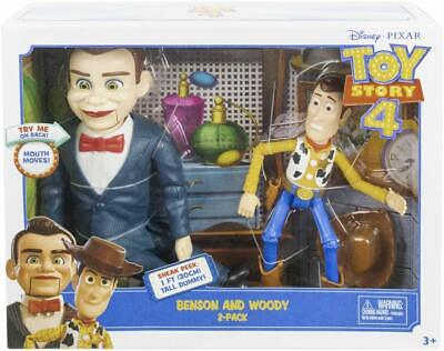 Woody and Benson Action Figure Toy Story 4 Kid Child Disney Pixar Gift 2-Pack NE for sale  Shipping to India