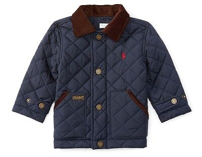 BNWT Ralph Lauren Polo Baby Boy Diamond Quilted Jacket 9M RRP £109