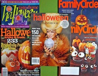 Lot of 5 Halloween magazines food party decorations Martha Stewart Handbook more](Martha Stewart Halloween Decor)