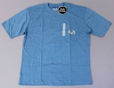 Expedition S/s Shirt (Realtree Men's S/S Expedition Embroidered Pocket T-Shirt KB8 Niagara Large NWT)
