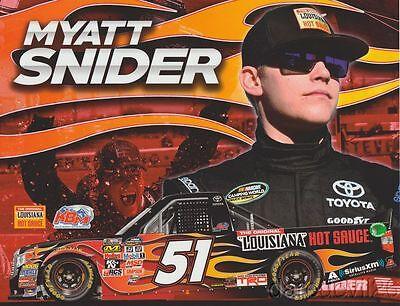 2017 Myatt Snider Louisiana Hot Sauce Toyota Tundra Nascar Cwts Postcard