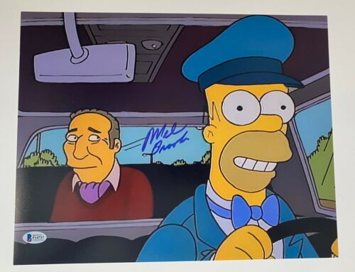 Mel Brooks Signed Autographed 11x14 Photo THE SIMPSONS BAS Beckett COA