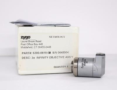 Zygo 6300-0819-08 3x Infinity Objective Assy