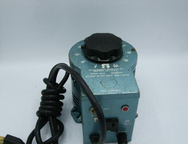 Staco 3PN1010 Variable Auto Transformer, 3A, 0-140V, 1.4 KVA
