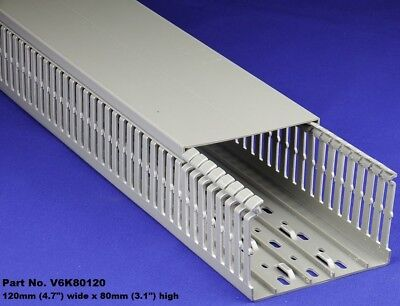 8 Sets - 5x3x2m Gray High Density Premium Wiring Ducts And Covers-ulcecsa