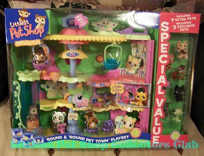 Littlest Pet Shop SPECIAL VALUE 7 Xtra Pets Round & Round Pet Town HUSKY 358 359