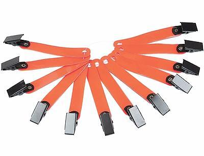 Allen Reflective Orange Clip-On Hunting Hiking Trail Markers Flags Package of 12