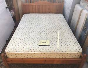 Excellent wooden frame double bed with excellent mattress. Delive Kingsbury Darebin Area Preview