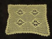 Yellow Crochet Doily