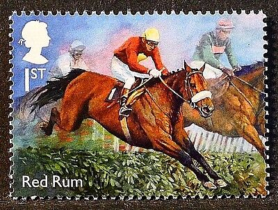 """Racehorse Legend """"Red Rum"""" illustrated on 2017 stamp - Unmounted mint"""