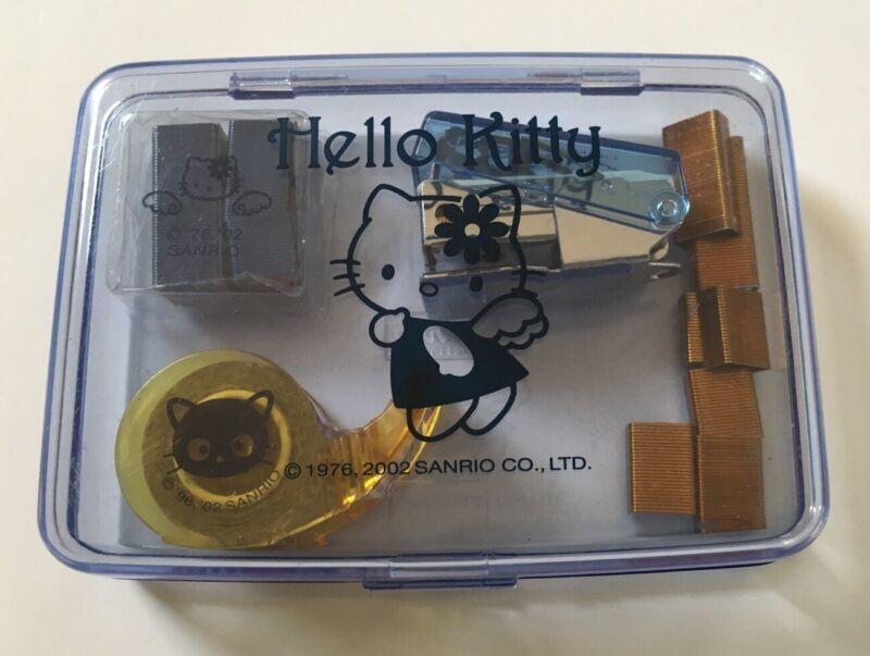Hello Kitty Mini Stapler Set With Case~ Sanrio ~2002