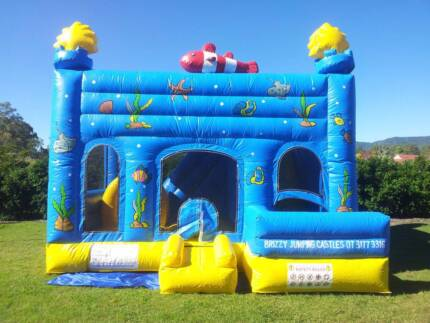 Under the Sea Jumping Castle Combo with Slide - For Sale