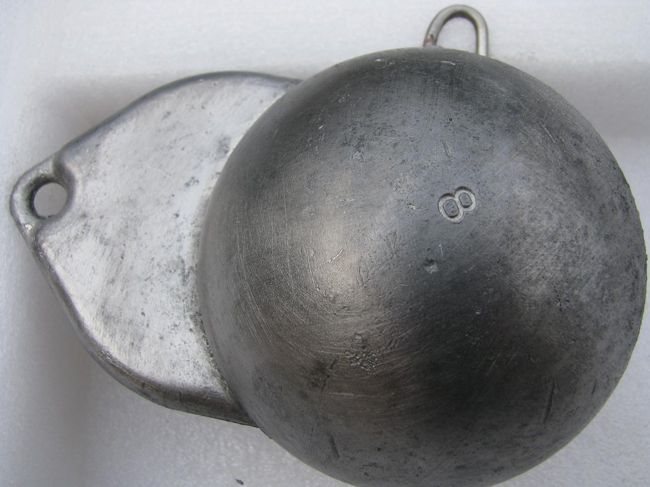 Meeresblei JB  Downriggerblei   Downrigger-Blei  1,65 kg  Downriggerbleie 1650 g
