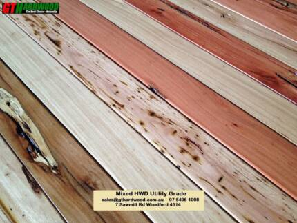 Mixed Hardwood Pencil Round Decking Utility Grade