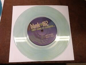 Blink-182 They Came To Conquer Uranus CLEAR BLUE WATER VINYL 7