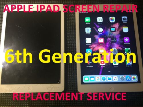 Apple Ipad Air 6th Generation Damaged Cracked Screen Replacement Repair Service