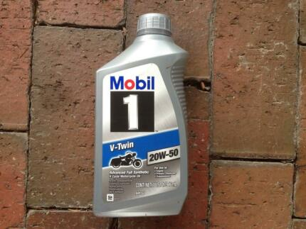 Mobil One V twin 20w-50 Fully synthetic oil