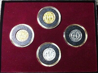2004 PNNA CONVENTION 4 COIN SET .999 GOLD,SILVER,COPPER,PEWTER SET. LOW MINTAGE