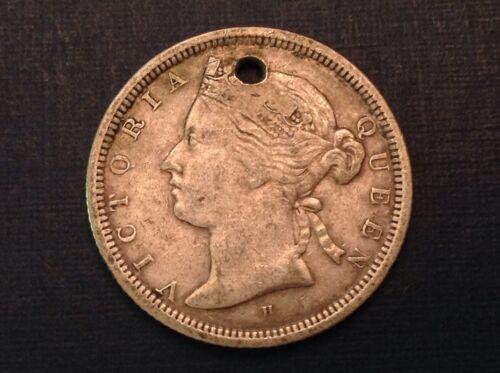 - Rare 1872 H  Straits Settlements 20 Twenty Cents Victoria