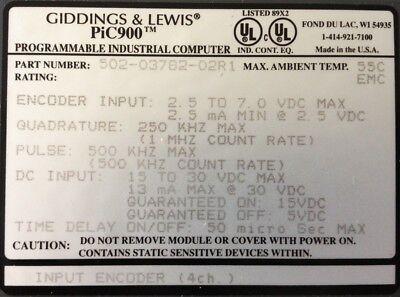 Giddings Lewis Plcs Pic900 Input Encoder 4 Channels 502-03782-02 R1