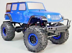 RC 1/10 Rock Crawler JEEP WRANGLER RUBICON 4X4 RC TRUCK Crawler RTR -BLUE-