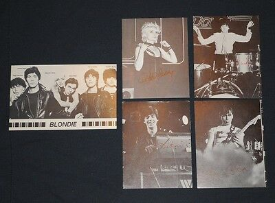 Blondie 5 postcard set Debbie Harry Clem Burke Destri Chris Stein 1979 Fan Club