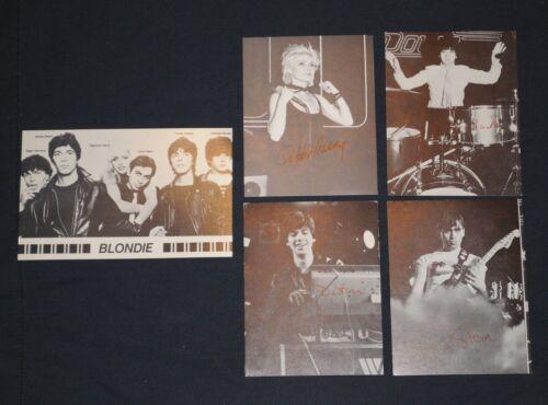 Blondie 5 postcard set Debbie Harry Clem Burke Destri Chris Stein 1979 Fan Club